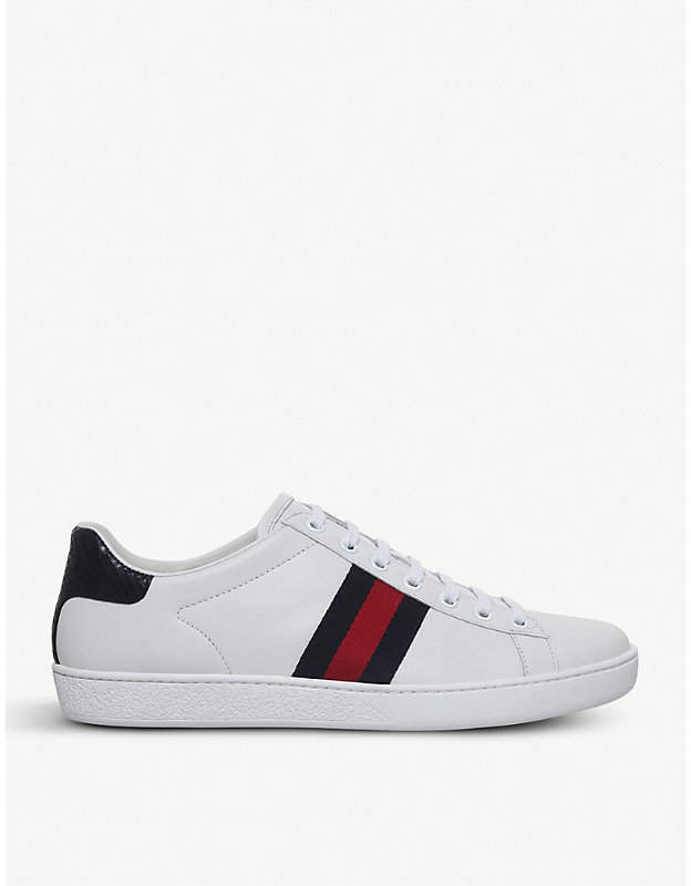 b5099587849 Gucci Sneakers With Gucci On The Back Heel - ShopStyle