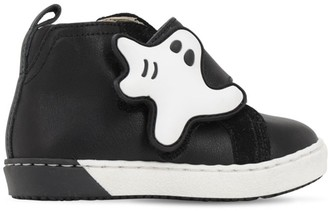 Florens Leather Sneakers W/ Ghost Applique