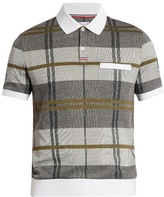 Moncler Gamme Bleu Checked cotton-piqué polo shirt