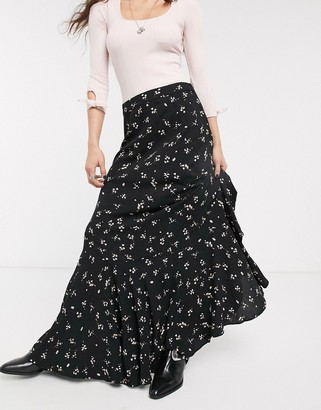 Free People ruby's forever floral maxi skirt