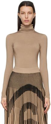 Wolford Beige Shimmer Colorado String Bodysuit