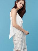 Diane von Furstenberg Asymmetric Lace Wrap Dress