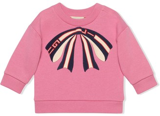 Gucci Kids Baby sweatshirt with bow
