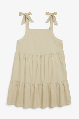 Monki Mini dress with tiered skirt