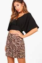 boohoo Molly Tie Waist Plunge Top