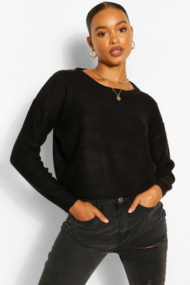 boohoo Basic Scoop Neck Sweater