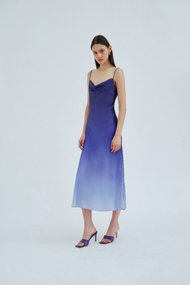 C/Meo ENTWINE DRESS Cobalt Ombre