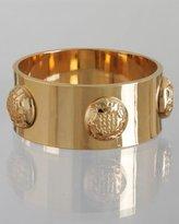 gold crest button studded bangle