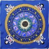 Cyclades Silk Scarf the Zodiac Blue
