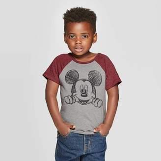 Disney Toddler Boys' Mickey Mouse Short Sleeve T-Shirt - Burgundy