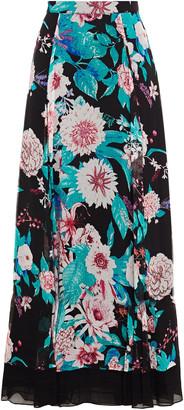Diane von Furstenberg Heka Floral-print Silk-chiffon Maxi Skirt