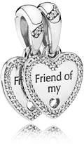 Pandora Pendant Bead 792147CZ Silver Hearts of Friendship Zirconia