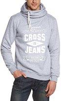 Cross Jeanswear Co. Cross Jeans Men's Shawl Collar Long Sleeve Sweatshirt