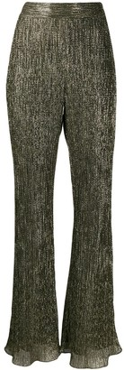 Peter Pilotto Flared Metallic Trousers