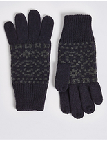 M&S Collection Knitted Fairisle Gloves