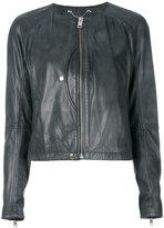 Diesel cropped jacket - women - Lamb Skin - XS