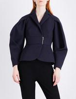 DELPOZO Rounded-sleeve woven jacket