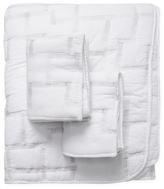 Melange Home Hip Stitch Cotton Quilt Set