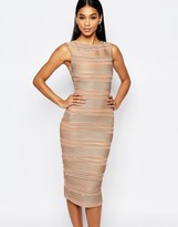 Lipsy Michelle Keegan Loves Ripple Body-Conscious Dress