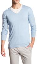 Autumn Cashmere Rolled Trim V-Neck Shirt
