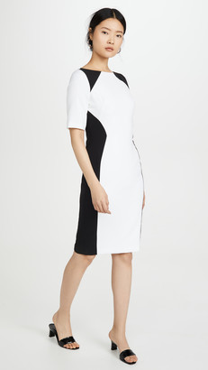Black Halo Wolfe Colorblock Sheath Dress