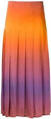 Reinaldo Lourenço pleated midi skirt