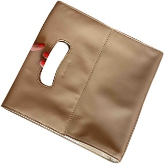 Helmut Lang \N Beige Patent leather Handbags