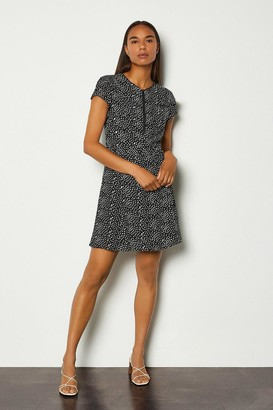 Karen Millen Graphic Spot Ruffle Short Dress