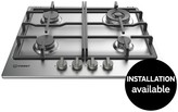 Indesit Aria THP641WIXI 60cm Gas Hob - Stainless Steel
