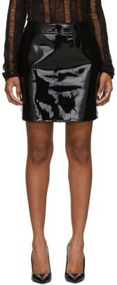 Saint Laurent Black Patent Miniskirt