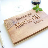 The Rustic Dish Personalised Engraved Cheese Board