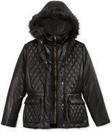 S. Rothschild & CO. Studded Puffer Jacket with Faux-Fur Trim, Big Girls (7-16)
