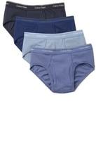 Calvin Klein Underwear 4 Pack Cotton Classic Low Rise Hip Briefs