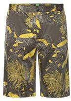 Hugo Boss Liem Print W Slim Fit, Cotton Shorts 34R Green