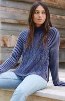 RVCA Mate Check Cowl Neck Pullover Sweater
