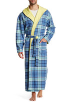 Majestic Blue Monday Reversible Hooded Cotton Robe