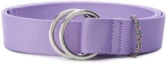 Ganni double ring buckle belt
