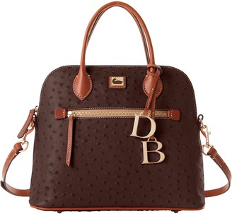 Dooney & Bourke Ostrich Large Domed Satchel