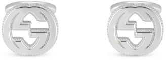 Gucci Interlocking Sterling Silver Cuff Links