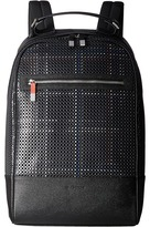 Bugatchi Nylon with Leather Trim Backpack Backpack Bags