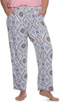 Croft & Barrow Plus Size Lush Luxe Pajama Pants