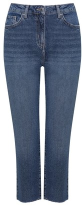 M&Co Petite straight leg cropped jeans