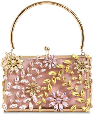 Rosantica Small Sofia Crystal Top Handle Bag