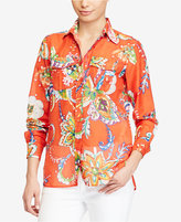 Lauren Ralph Lauren Floral-Print Voile Shirt