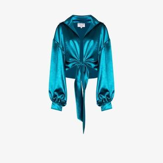 Collina Strada Osho cropped satin blouse