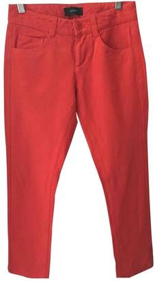 Joseph Orange Synthetic Trousers