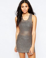 Brave Soul Sleeveless Metallic Knit Top