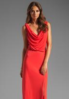 BCBGMAXAZRIA Cowl Neck Maxi Dress