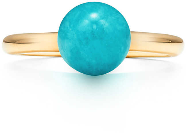 01fab305a6c1b & Co. City HardWear ball ring in 18c gold with a chrysoprase - Size 5