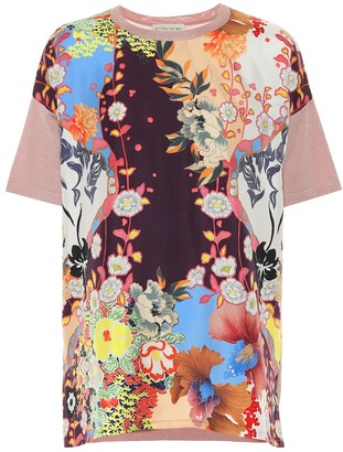 Etro Silk and cotton-blend T-shirt